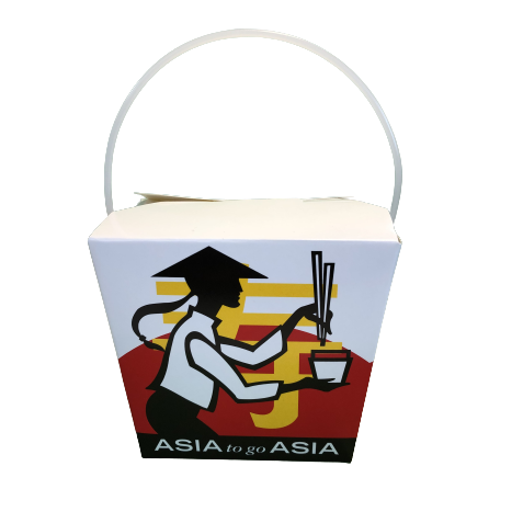 26 OZ Noodle Box ASIA TO GO ASIA / Take Away Paper Box 750ml (500sets)